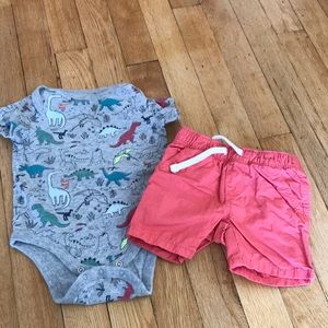 Gap onesie and Old Navy Short Set